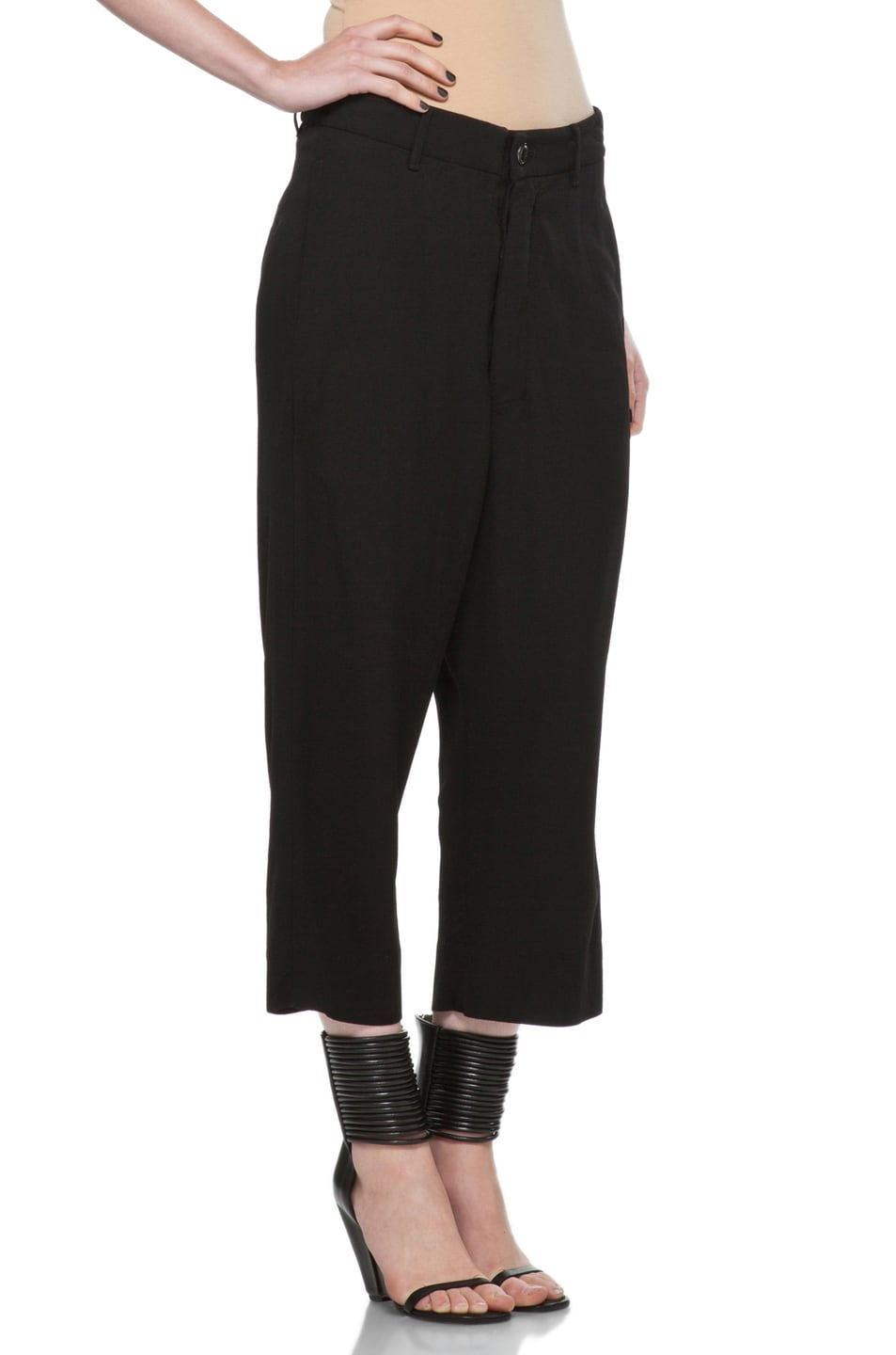Image 3 of Rick Owens Cropped Loose Pant in Black