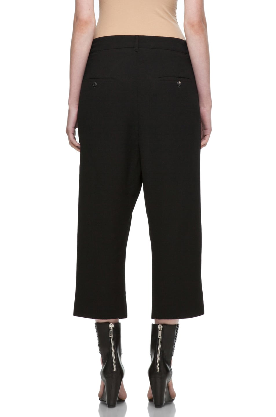 Image 4 of Rick Owens Cropped Loose Pant in Black