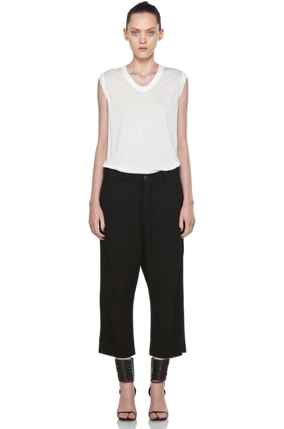 Image 5 of Rick Owens Cropped Loose Pant in Black