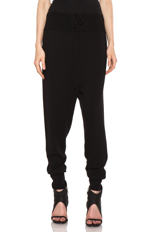 Image 1 of Rick Owens Merino Wool Sweatpant in Black