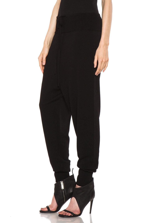 Image 2 of Rick Owens Merino Wool Sweatpant in Black