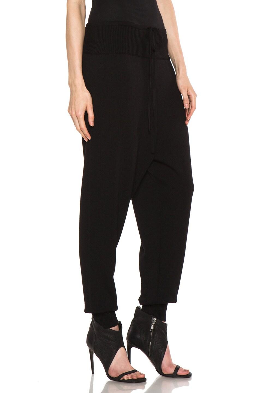 Image 3 of Rick Owens Merino Wool Sweatpant in Black