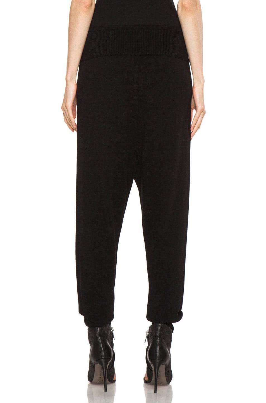 Image 4 of Rick Owens Merino Wool Sweatpant in Black