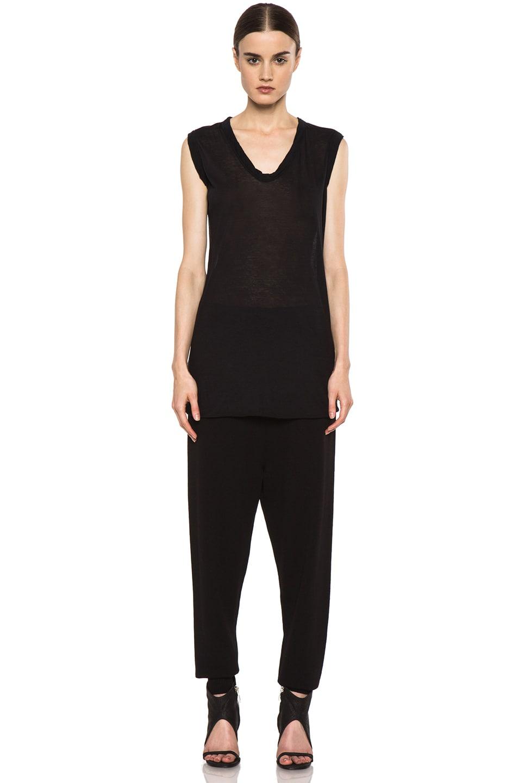 Image 5 of Rick Owens Merino Wool Sweatpant in Black