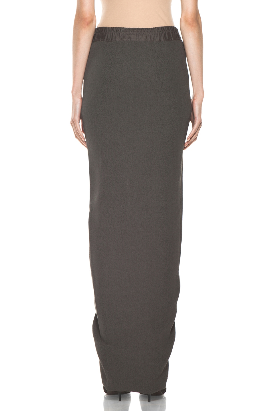 Image 4 of Rick Owens Front Wrap Skirt in Dark Dust