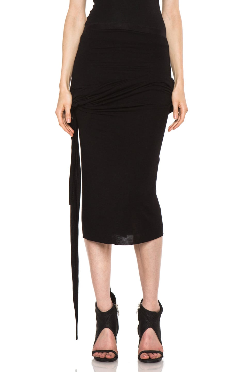 Image 1 of Rick Owens Dustulator Skirt in Black
