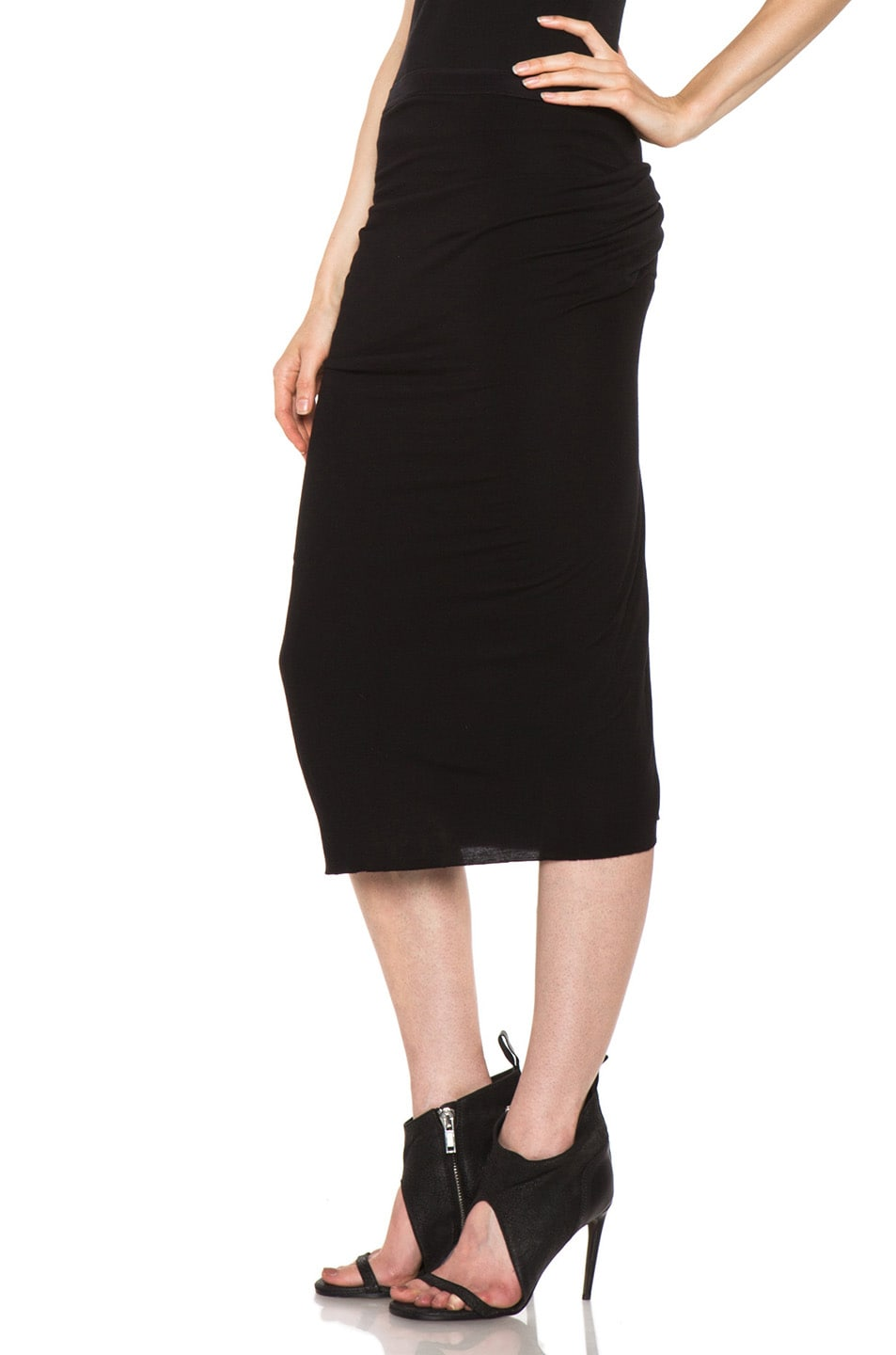 Image 2 of Rick Owens Dustulator Skirt in Black