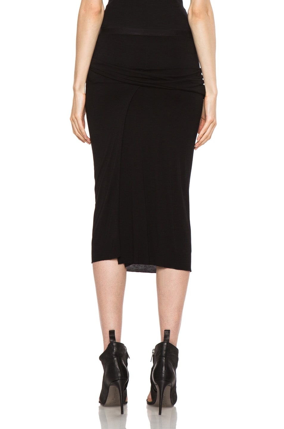 Image 4 of Rick Owens Dustulator Skirt in Black