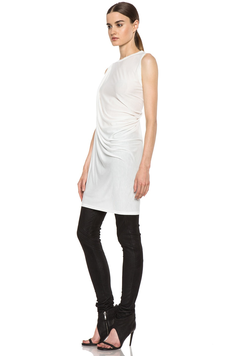Image 2 of Rick Owens Anthem Viscose-Blend Tunic in Milk