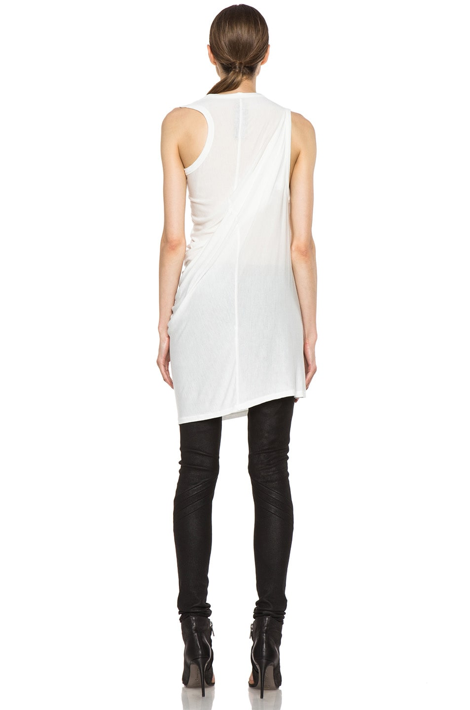 Image 4 of Rick Owens Anthem Viscose-Blend Tunic in Milk