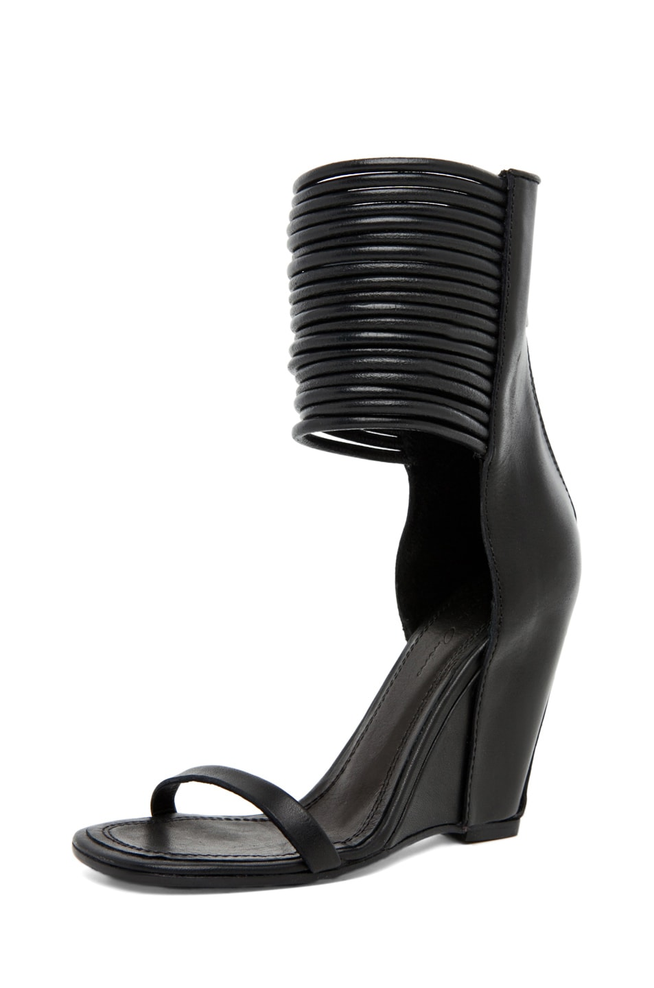 Image 2 of Rick Owens Cord Sandal in Black