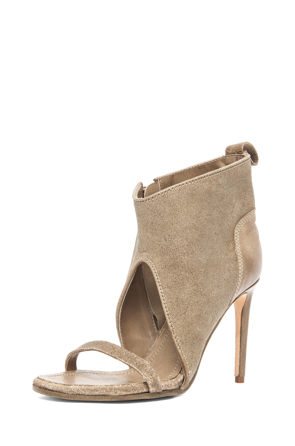 Image 2 of Rick Owens Spike Sandal Bootie in Taupe