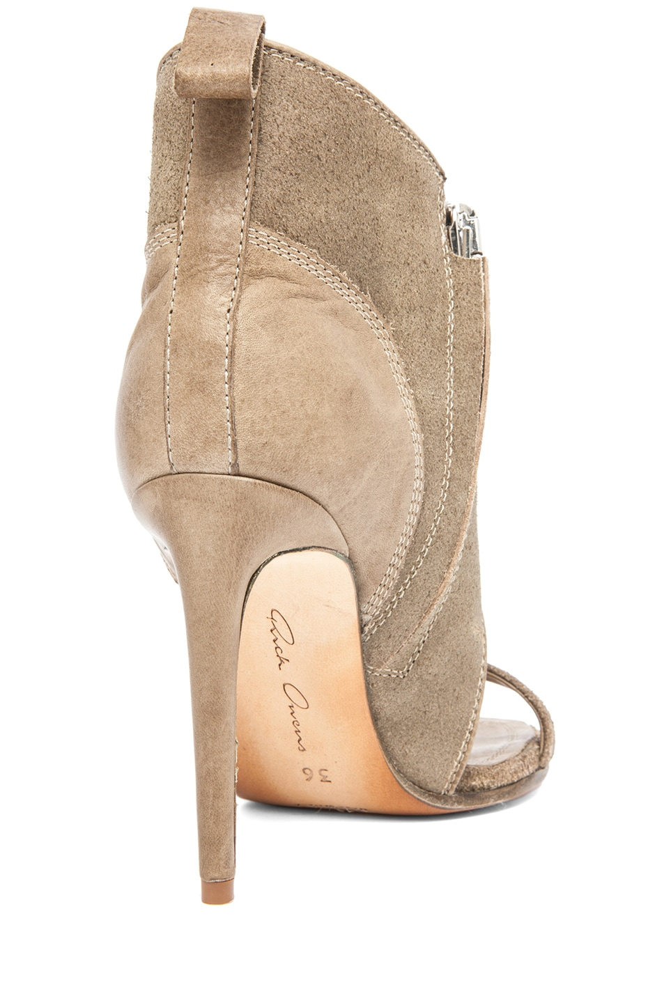 Image 3 of Rick Owens Spike Sandal Bootie in Taupe
