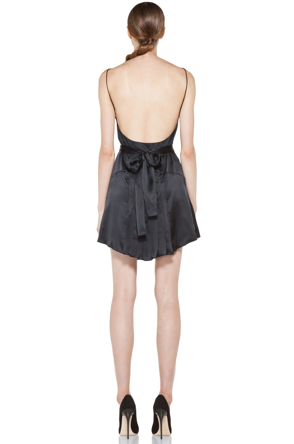 Image 4 of ROCHAS Satin Dress in Black