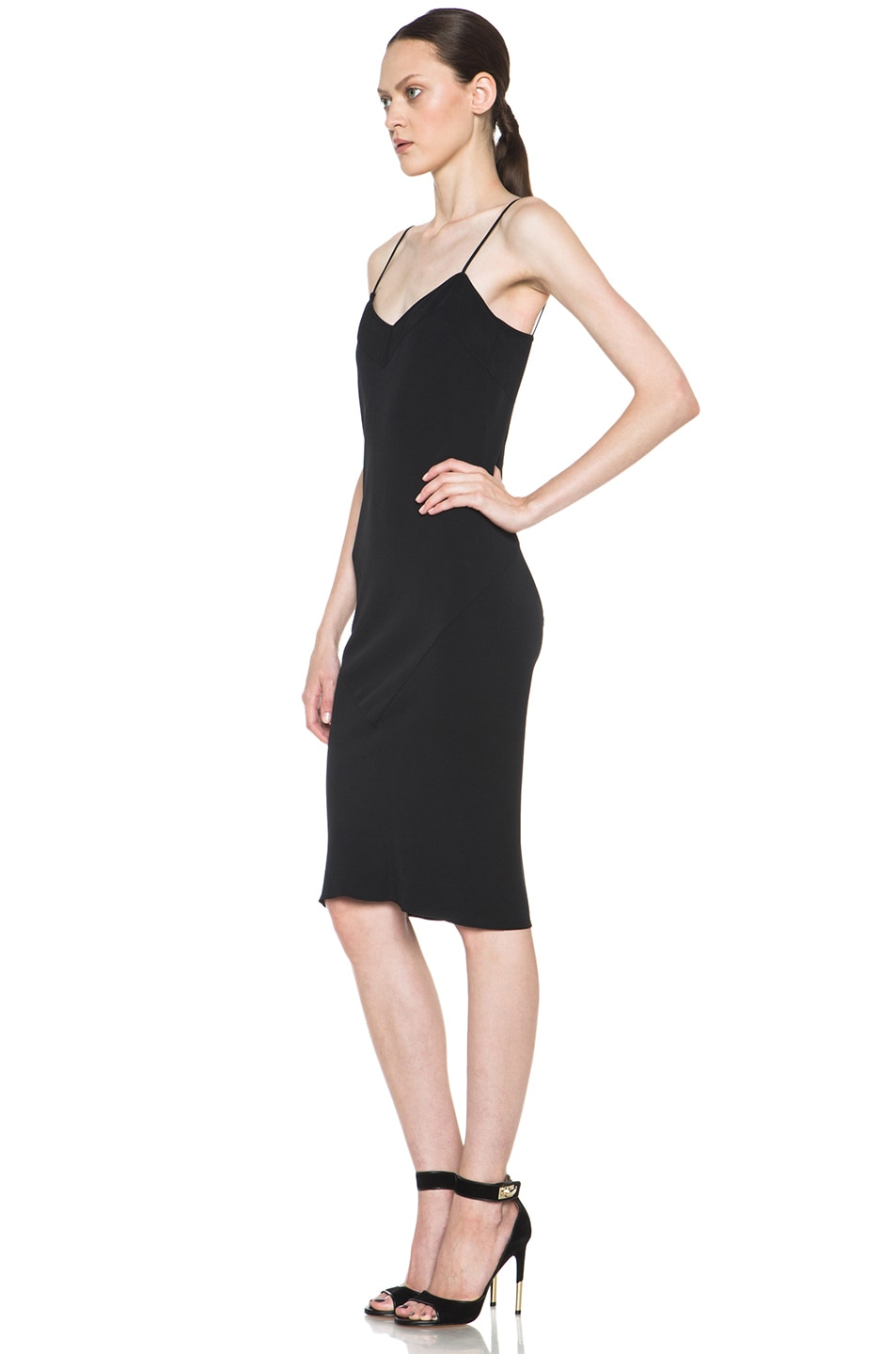 Image 2 of ROCHAS Slip Dress in Black