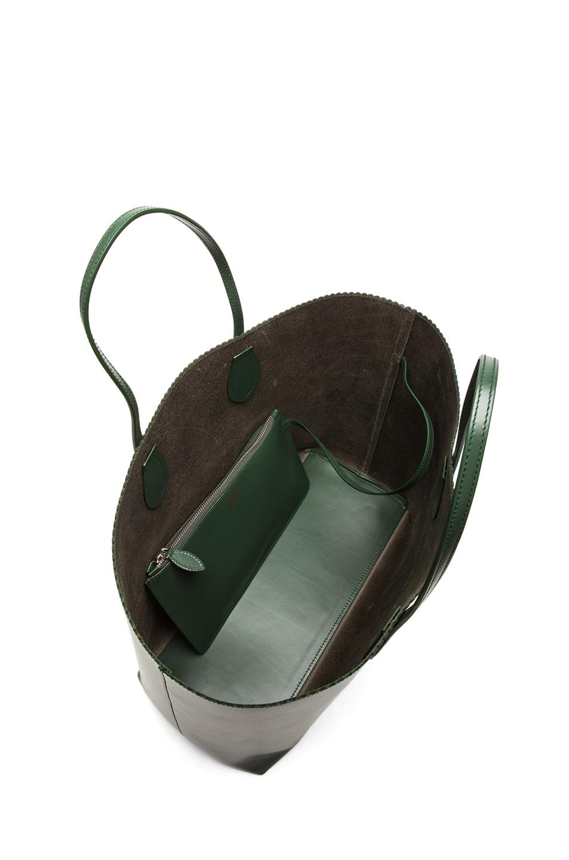 Image 4 of ROCHAS Borsa Zig Zag Tote in Olive Green