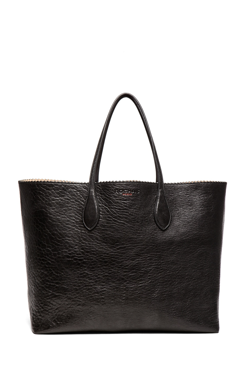 Image 1 of ROCHAS Borsa Zig Zag Tote in Black