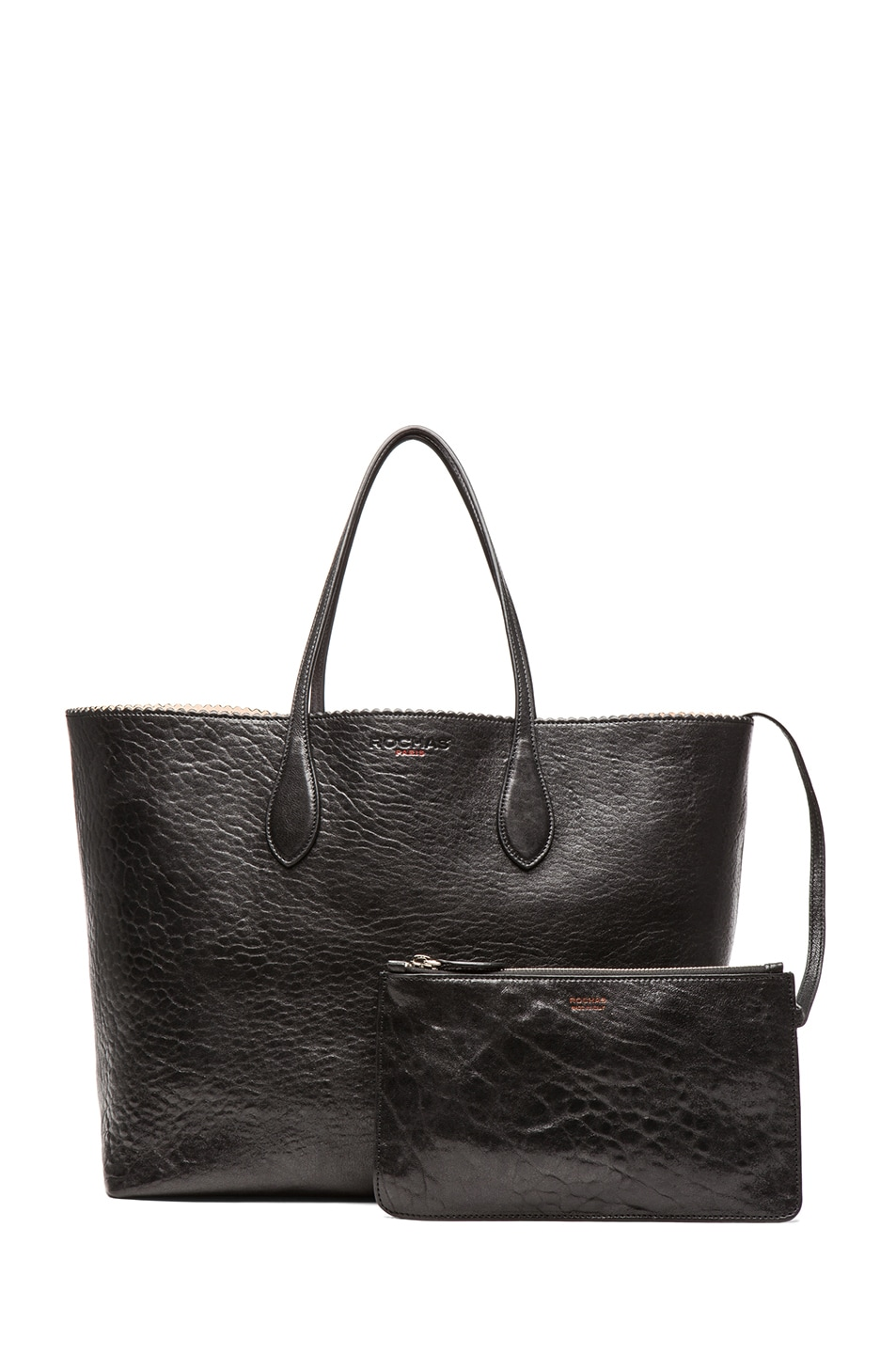 Image 5 of ROCHAS Borsa Zig Zag Tote in Black