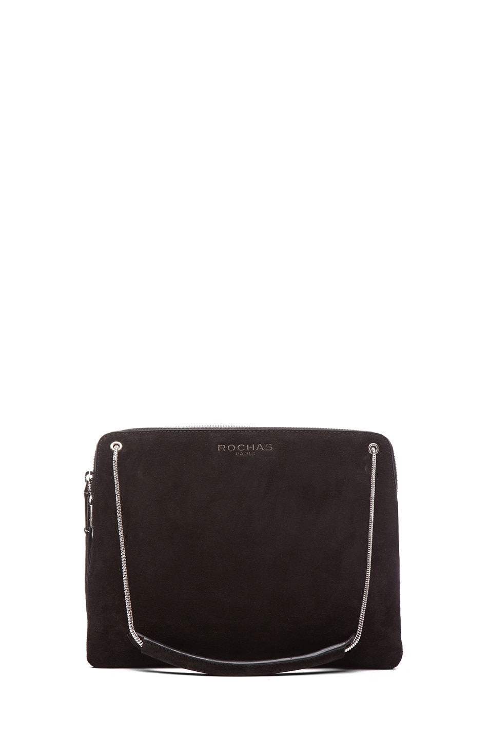 Image 1 of ROCHAS Small Borsa Suede Clutch in Black