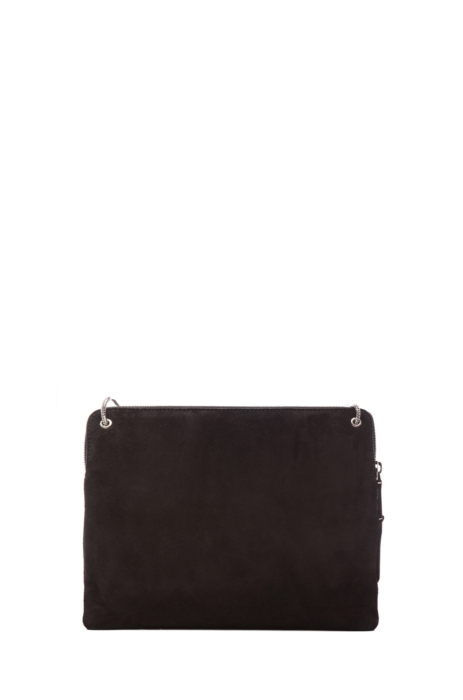 Image 2 of ROCHAS Small Borsa Suede Clutch in Black