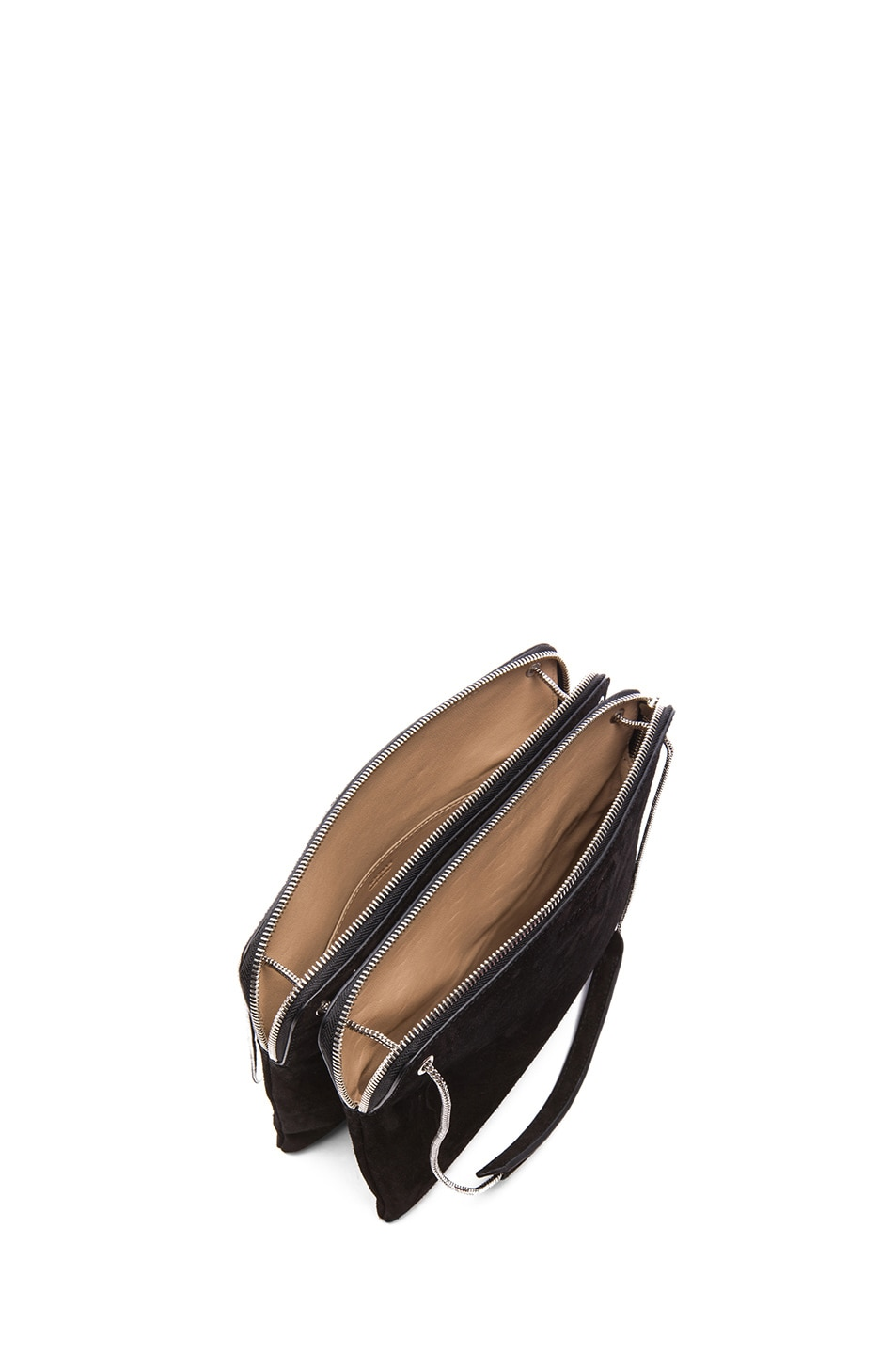 Image 4 of ROCHAS Small Borsa Suede Clutch in Black