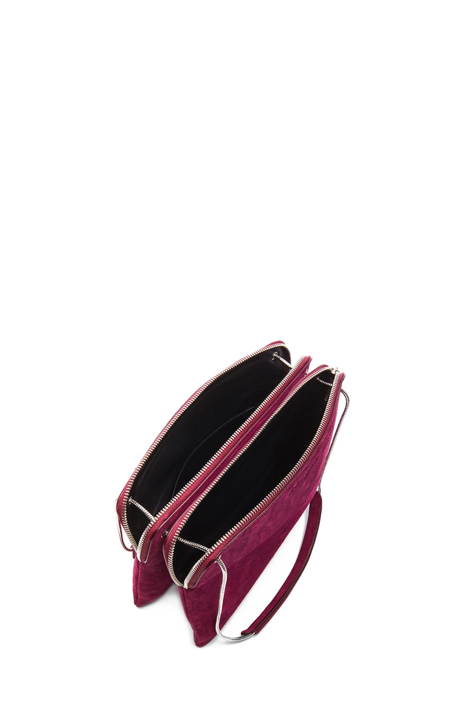 Image 4 of ROCHAS Small Borsa Suede Clutch in Claret