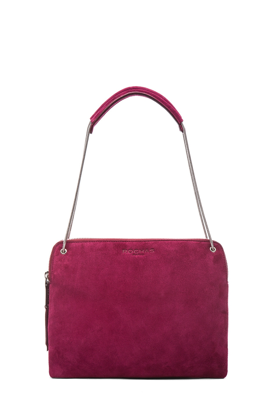 Image 5 of ROCHAS Small Borsa Suede Clutch in Claret
