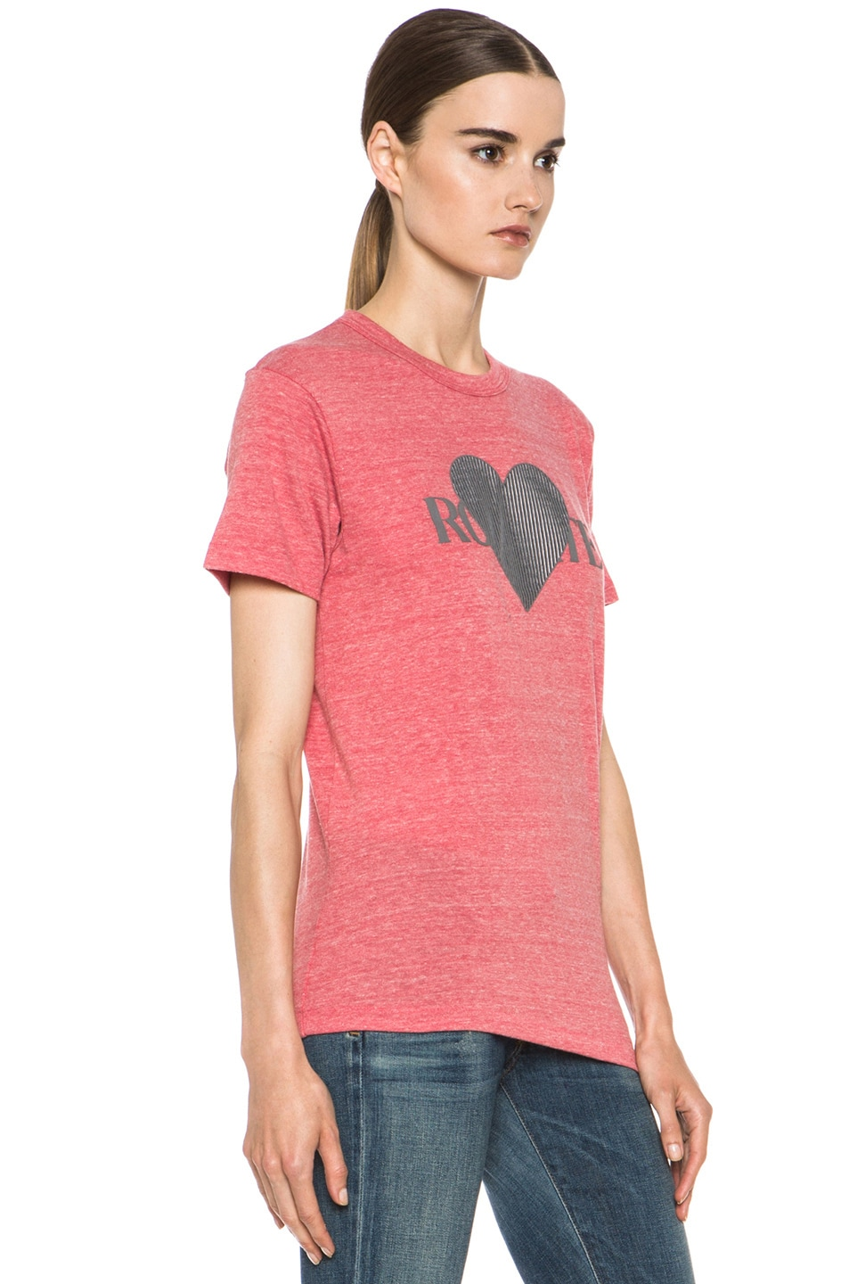 Image 2 of Rodarte 3D-Rodarte Poly-Blend Heart Tee in Red