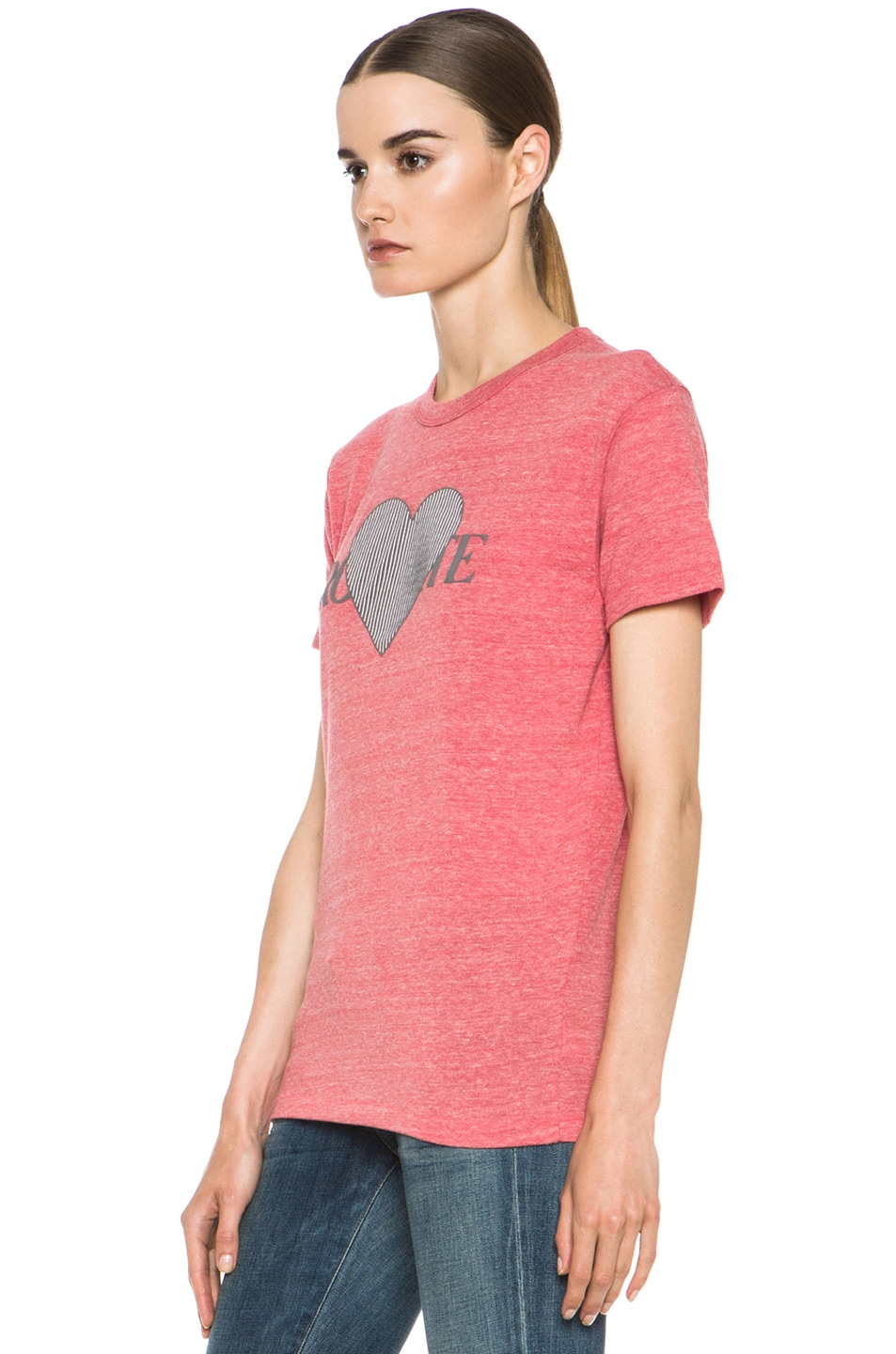 Image 3 of Rodarte 3D-Rodarte Poly-Blend Heart Tee in Red