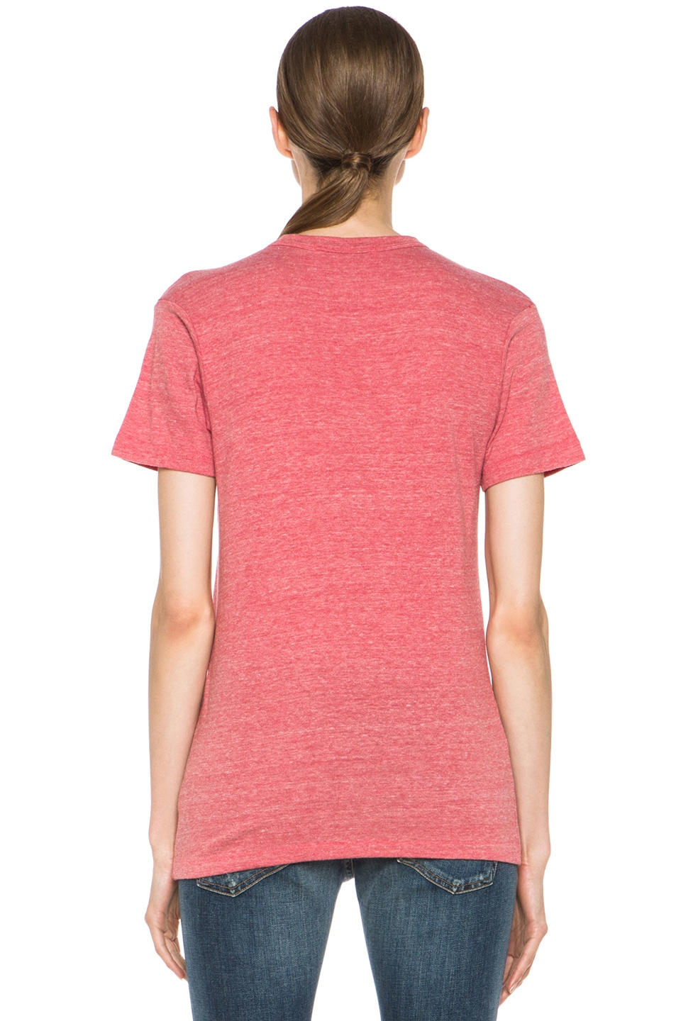 Image 4 of Rodarte 3D-Rodarte Poly-Blend Heart Tee in Red
