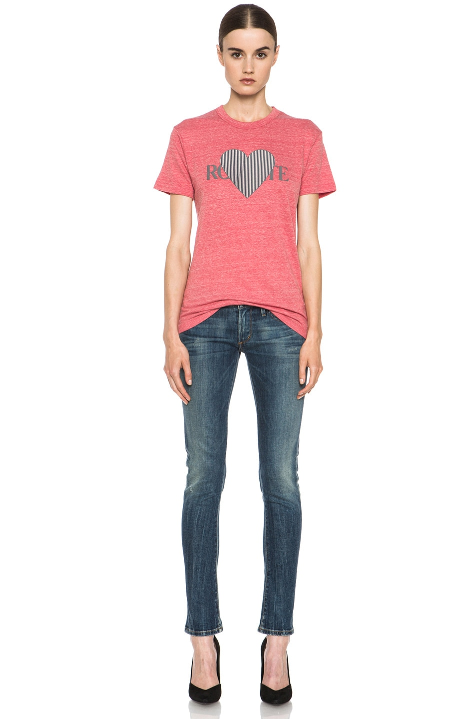Image 5 of Rodarte 3D-Rodarte Poly-Blend Heart Tee in Red