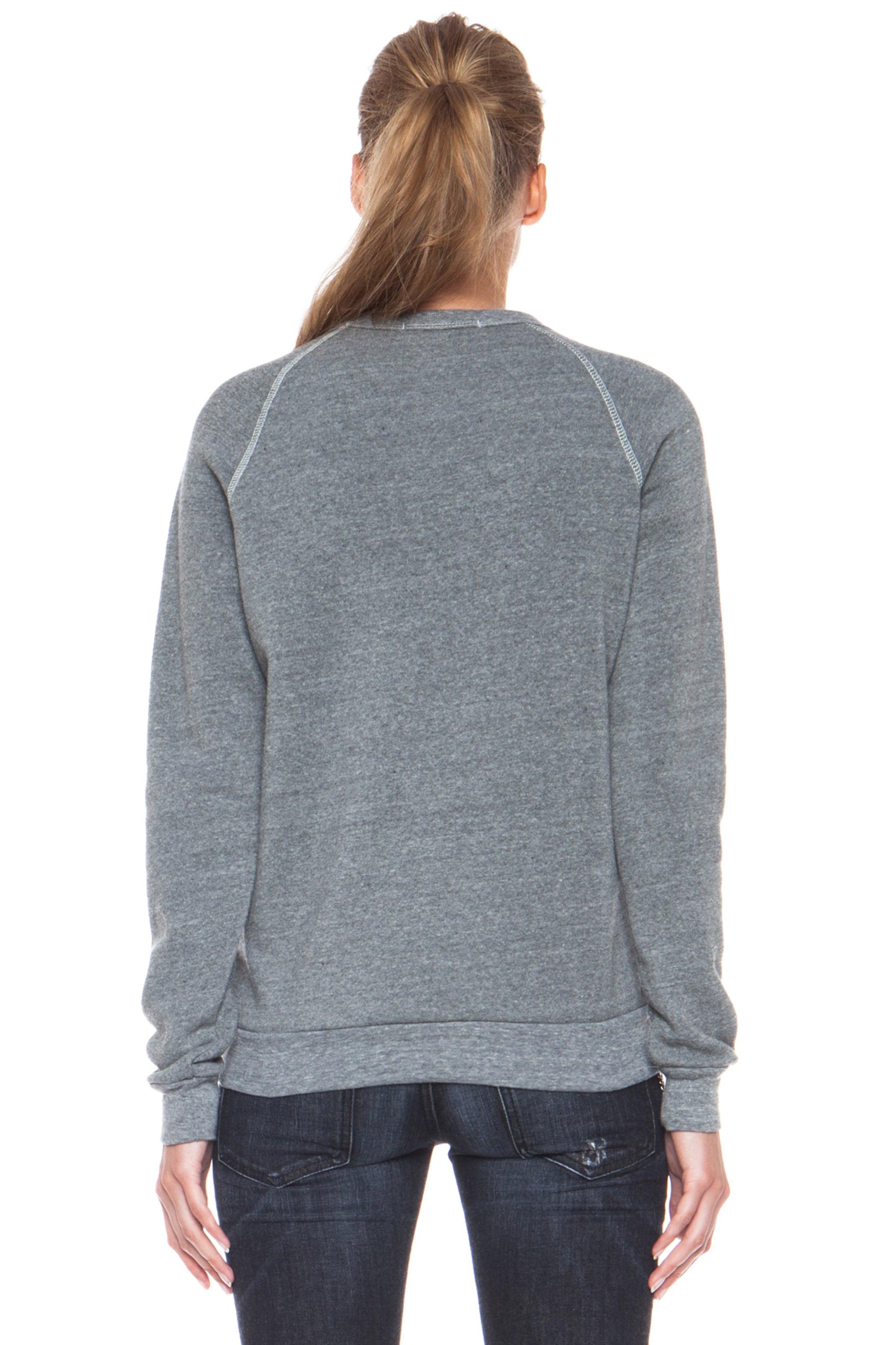 Image 4 of Rodarte Barbed Wire Poly-Blend Sweatshirt in Heather Grey