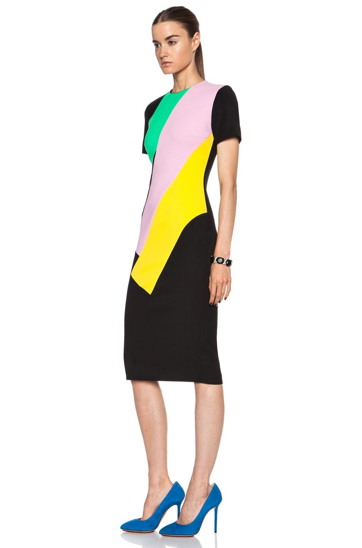 Image 2 of Roksanda Lockwood Viscose-Blend Dress in Black Multi