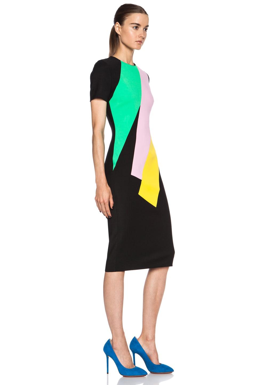 Image 3 of Roksanda Lockwood Viscose-Blend Dress in Black Multi