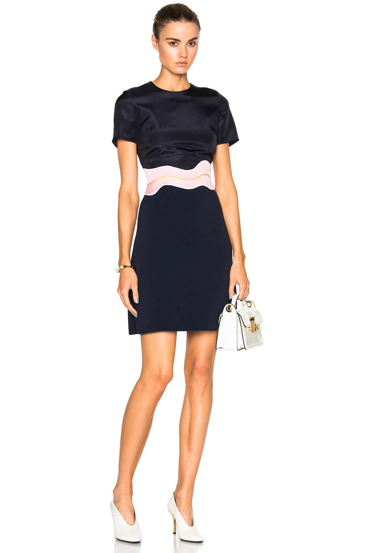 Image 1 of Roksanda Aublin Dress in Navy & Lavender