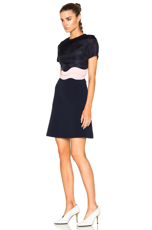 Image 2 of Roksanda Aublin Dress in Navy & Lavender