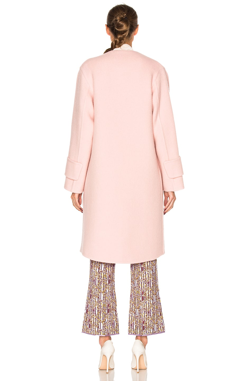 Image 5 of Roksanda Cavani Heavy Felted Wool Coat in Blush