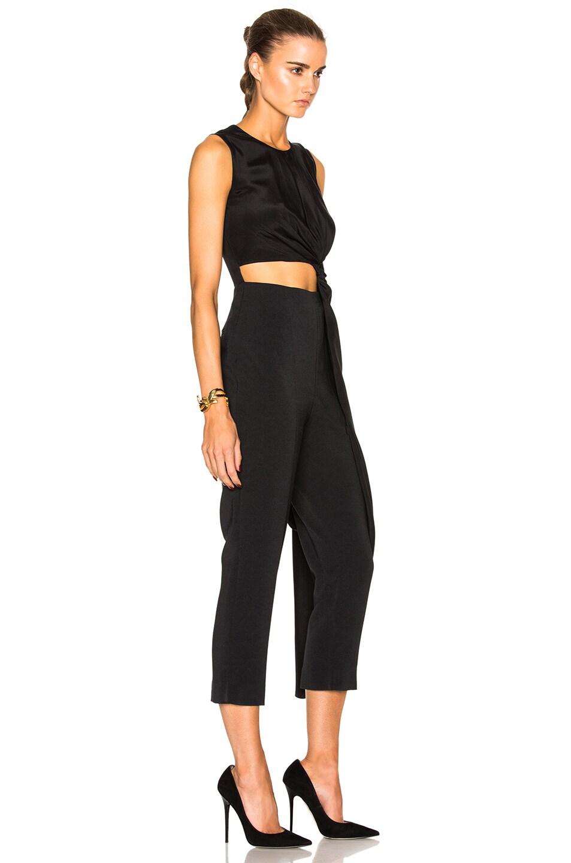 Image 3 of Roksanda Cady & Crepe Moroccan Thurloe Jumpsuit in Black