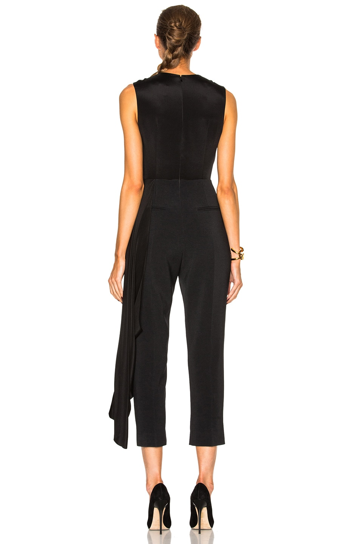 Image 4 of Roksanda Cady & Crepe Moroccan Thurloe Jumpsuit in Black