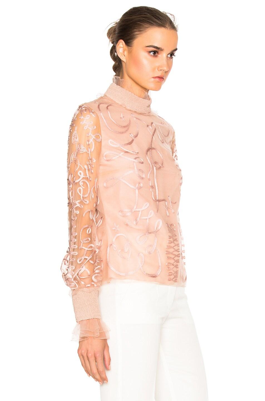 Image 3 of Roksanda Kielder Phantom Tulle Top in Blush