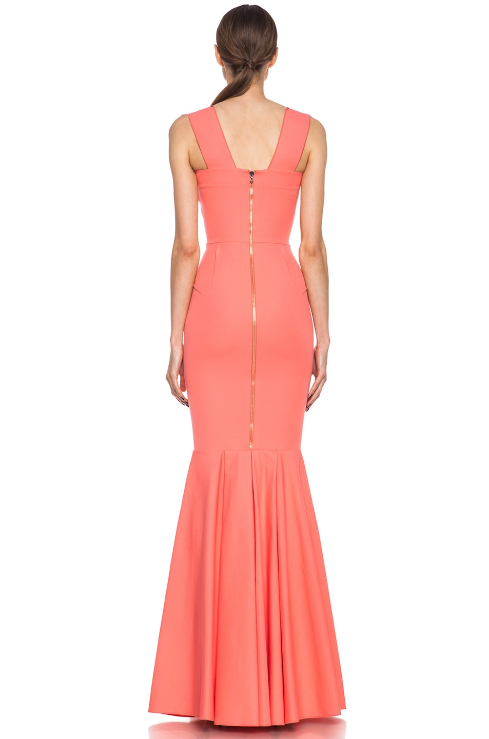 Image 4 of Roland Mouret Orpheus Cotton-Blend Gown Pink in Coral