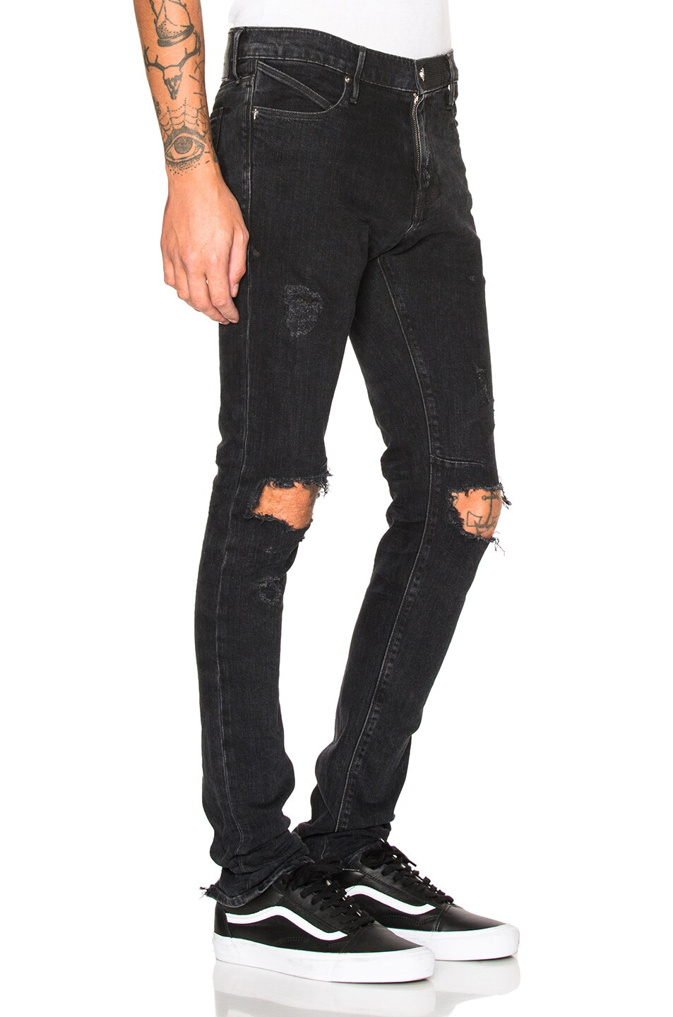 Image 3 of RtA Jeans in Ash Destroy