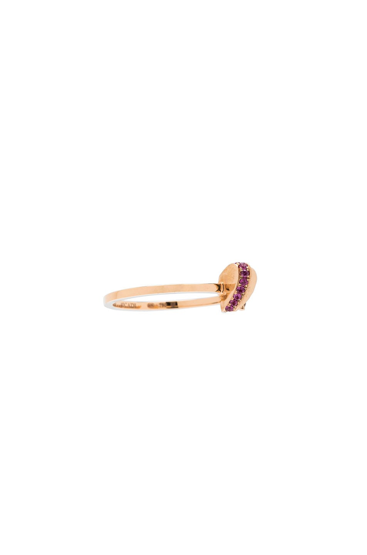 Image 3 of Ruifier 18 Karat Flutter Heart Ring in Rose Gold