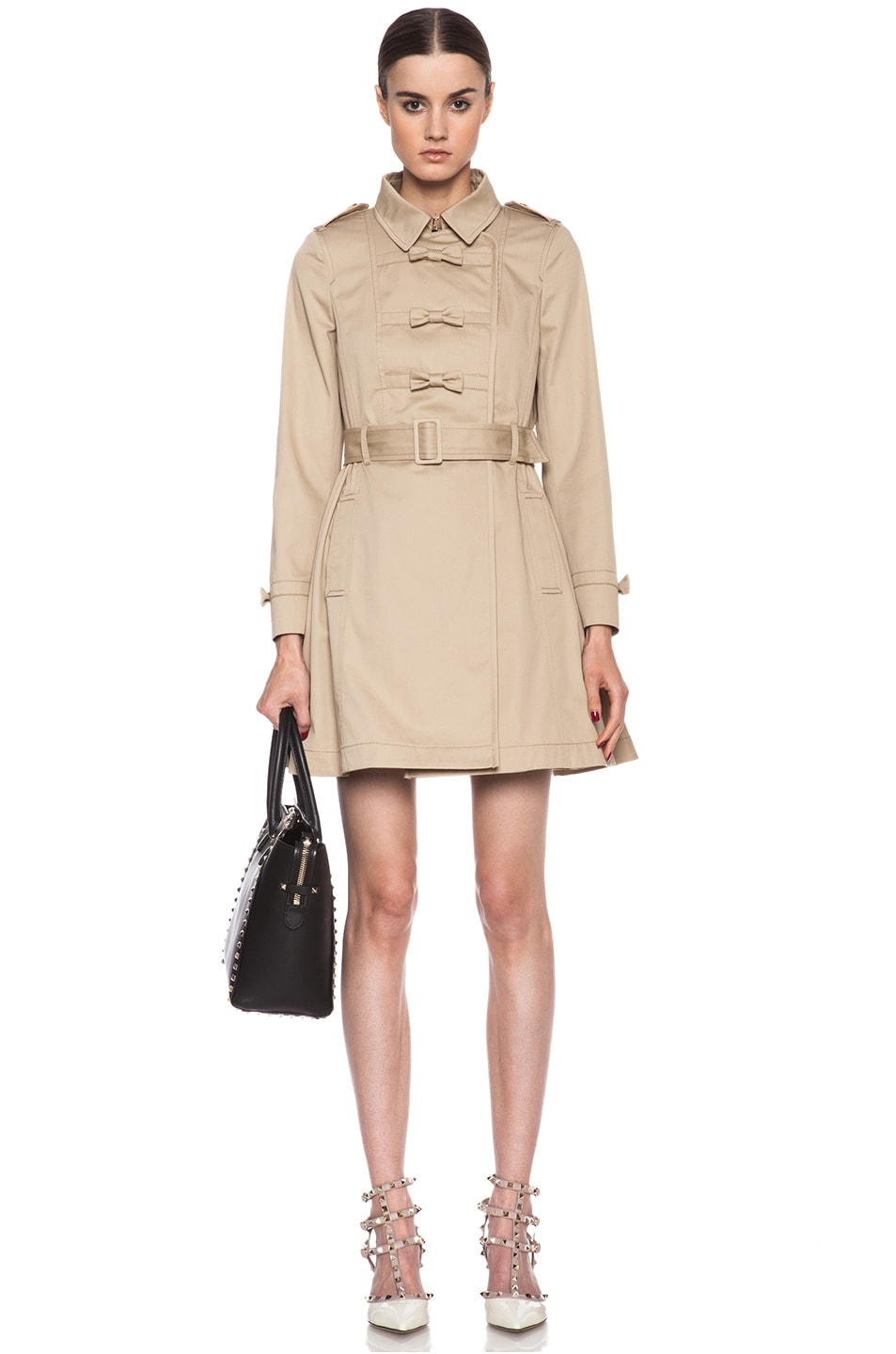Image 1 of Red Valentino Gabardine Trench in Khaki