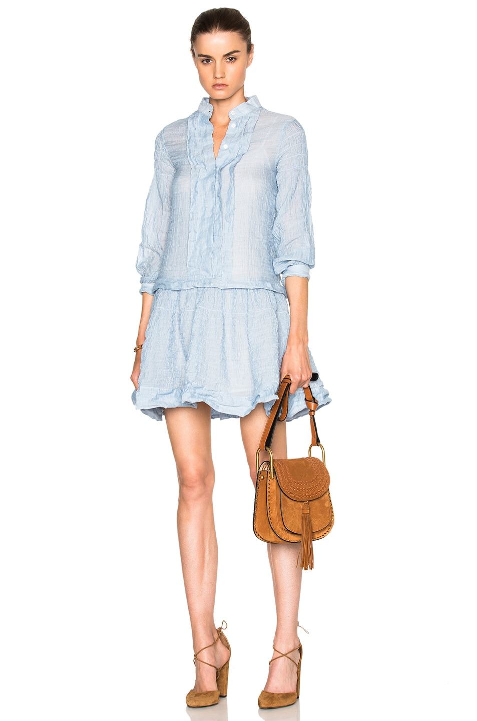 Image 1 of See By Chloe Cotton Gauze Mini Dress in Forever Blue