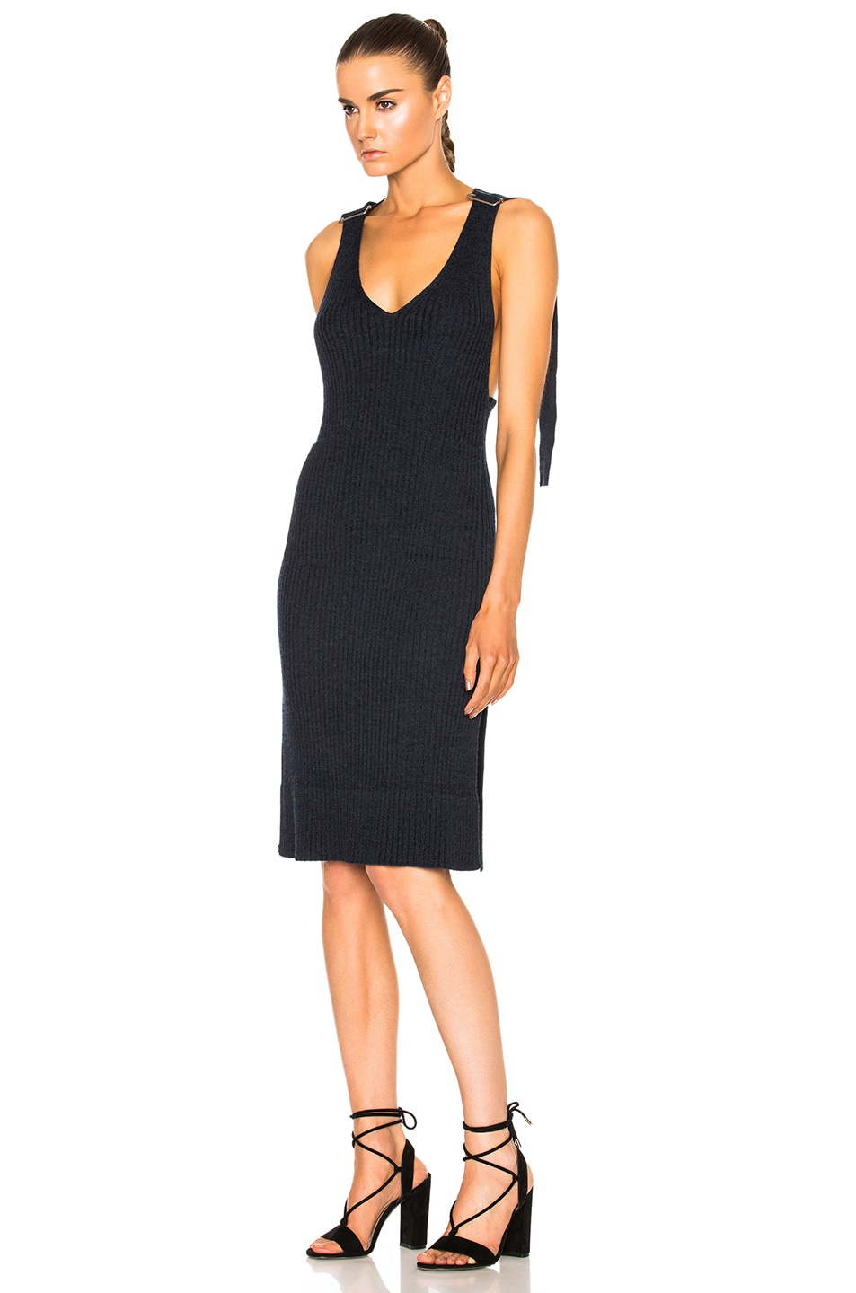 Image 2 of See By Chloe Knit Midi Dress in Indigo