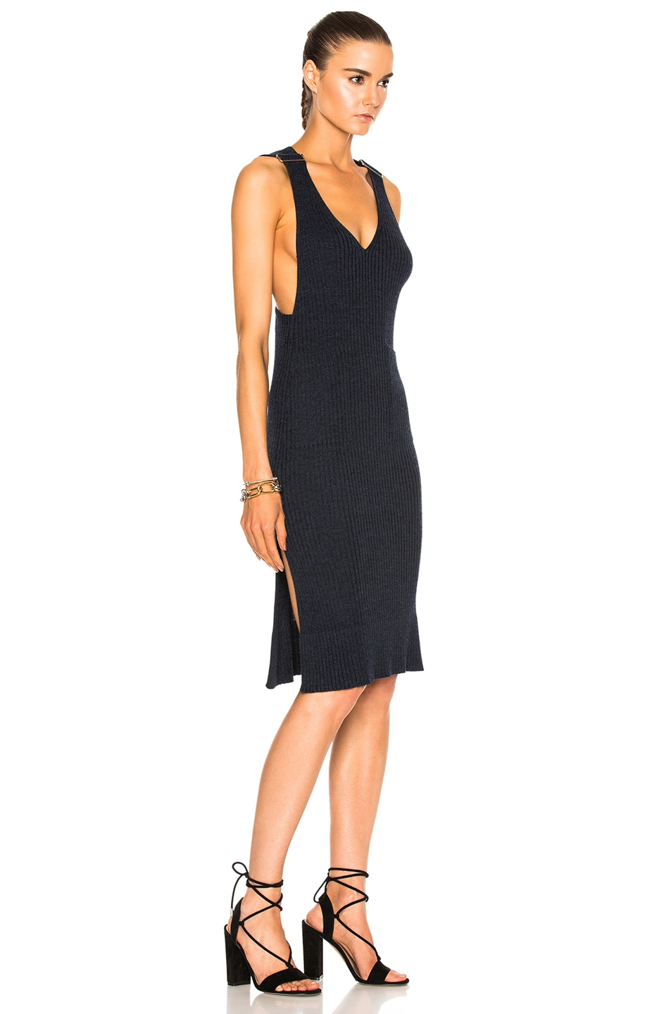 Image 3 of See By Chloe Knit Midi Dress in Indigo