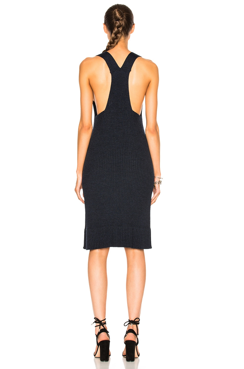 Image 4 of See By Chloe Knit Midi Dress in Indigo