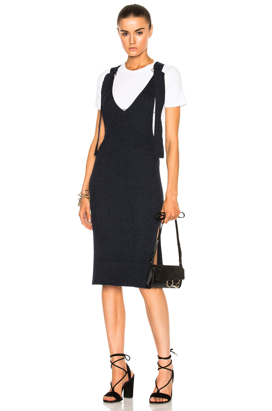 Image 5 of See By Chloe Knit Midi Dress in Indigo