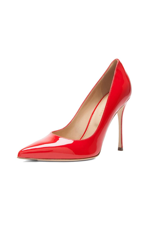 Image 2 of Sergio Rossi Godiva Patent Leather Pumps in Rosso Flamenco